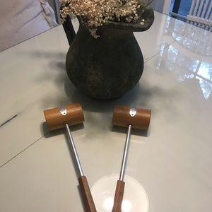 William Sonoma Salt & Pepper w/ or wo/ handles